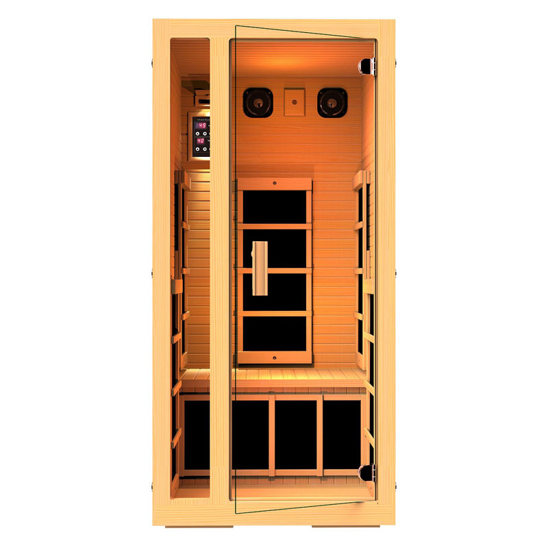 JNH Lifestyles Joyous 1 Person-Infrared Personal Sauna in Canadian Hemlock