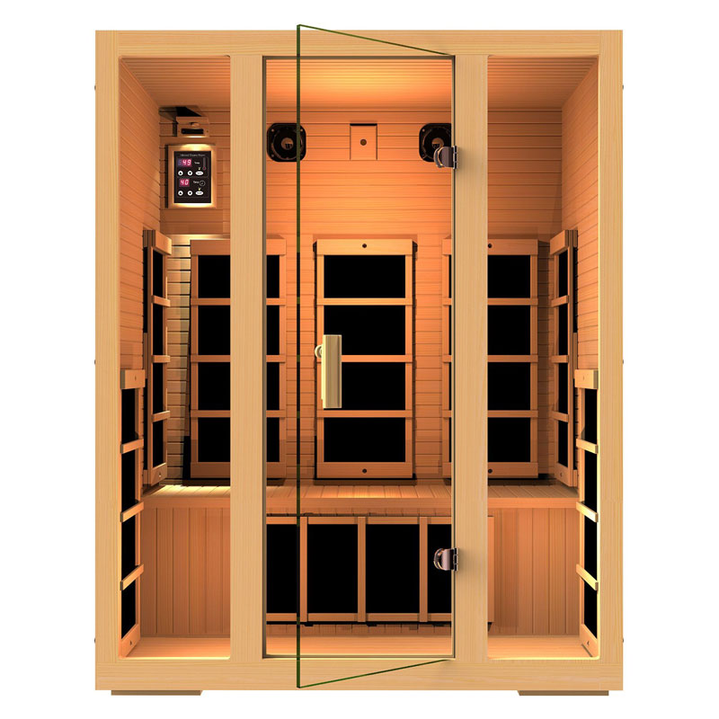 JNH Lifestyles Joyous 3 Person Infrared Home Sauna