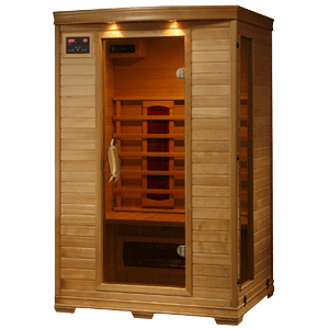 Radiant Saunas 2-Person Hemlock Deluxe Infrared Sauna