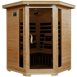 Radiant Saunas BSA2412 3-Person Hemlock Infrared Sauna